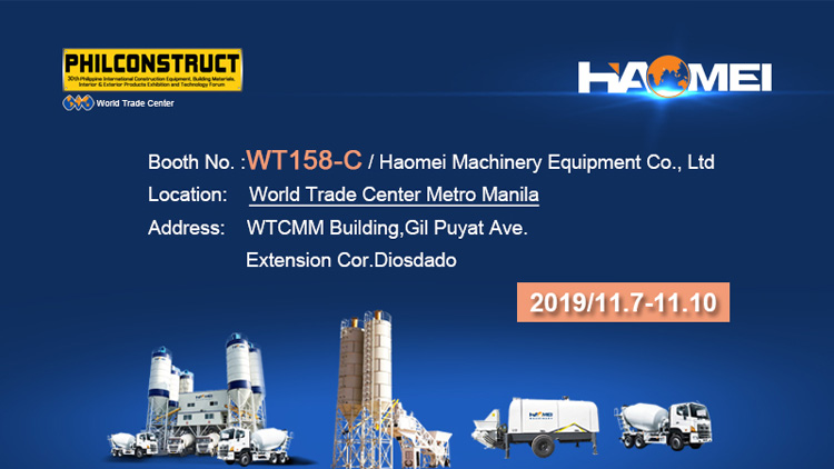 Haomei want to meet you in Philconstruct 2019