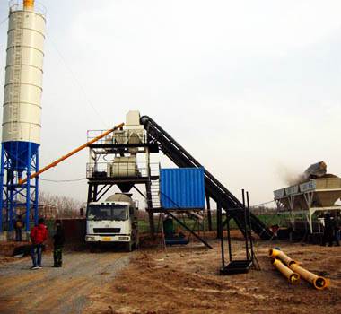 Mobile Ready Mixed Concrete Batching Plant YHZS60